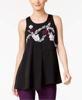 Alfani Embroidered Swing Top, Created for Macy's