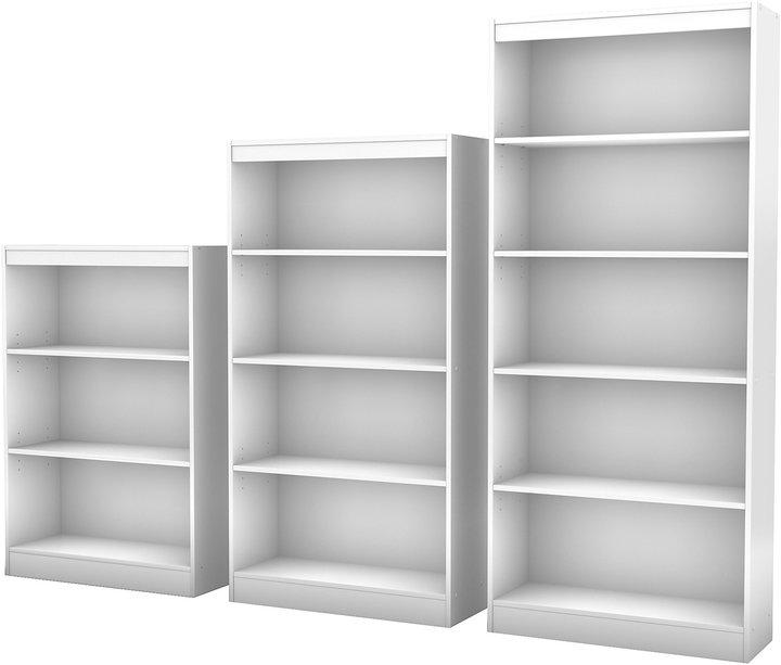 Green Baby South Shore Axess Collection 5-Shelf Bookcase - Pure White