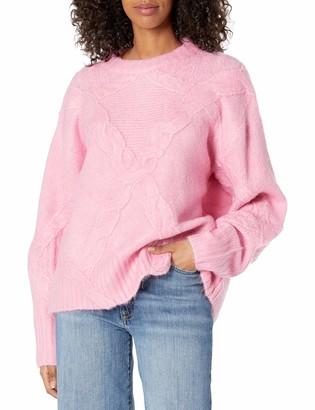 For Love & Lemons Women's Cable Knit Cross Back Sweater