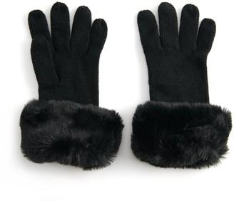 Lauren Conrad Women's Faux Fur Trimmed Gloves