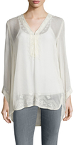 Calypso St. Barth Ziota Silk Embroidered Blouse