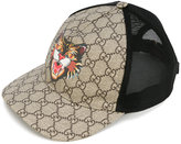 Gucci Cat print GG Supreme baseball hat