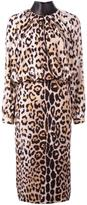 Tom Ford leopard print longsleeved dress