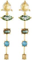 Indulgems Mixed-Stone Linear Dangle Earrings w/ Rock Crystal
