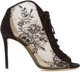 Jimmy Choo Freya 100mm open-toe lace ankle boots