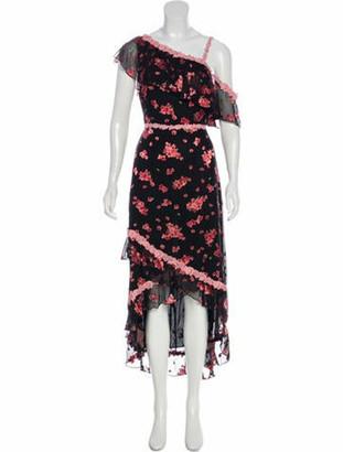 Alice + Olivia Silk Long Dress w/ Tags Black