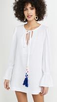 Bohemia Alix Of LouLou Tasseled Textured Cotton Dress