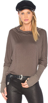 Michael Stars Luxe Slub Cowl Neck Top