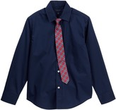 Tommy Hilfiger Mechanical Stretch Shirt & Tie Set (Big Boys)