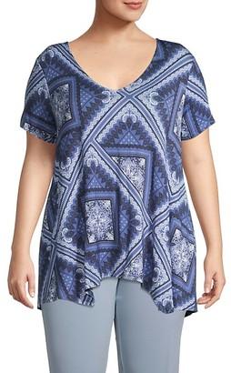 American Rag Bandana Handkerchief Hem T-Shirt