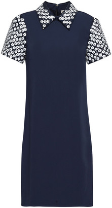 MICHAEL Michael Kors Floral-appliqued Stretch-crepe Dress