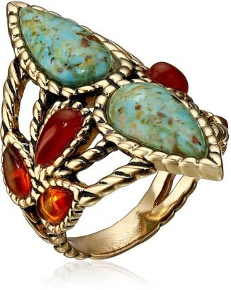 Barse Bronze and Genuine Stone Ring Size 7