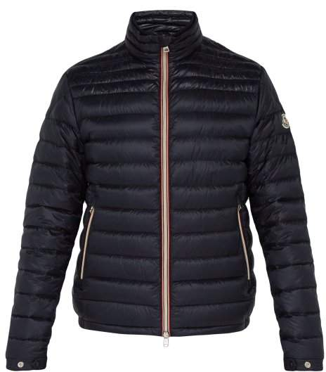 Moncler Daniel Quilted Down Jacket - Mens - Navy