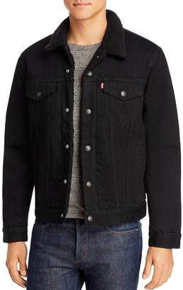 Levi's Sherpa-Lined Regular Fit Denim Jacket in Berk