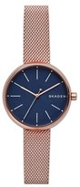 Skagen Women's Round Mesh Strap Watch, 30Mm