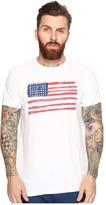 The Original Retro Brand - American Flag Short Sleeve Slub Tee Men's T Shirt