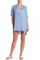 BOHO ME Patch Pocket Shirt Dress Cover-Up
