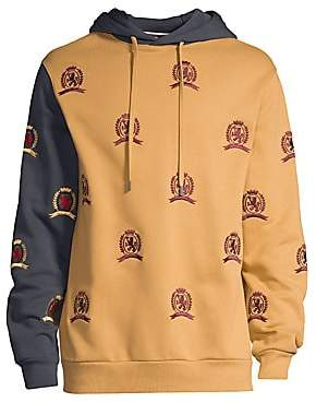 Tommy Hilfiger Edition Men's Allover Embroidered Crest Hoodie