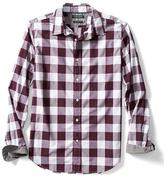 Banana Republic Camden-Fit Custom Wash Multi Plaid Shirt