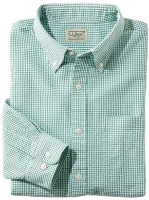 L.L. Bean L.L.Bean Men's Seersucker Shirt, Long-Sleeve Gingham