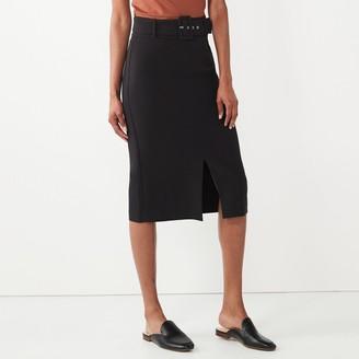 Nine West Women's Belted Pencil Skirt