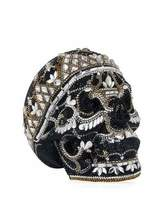 Judith Leiber Couture Skull Bela Lugosi Crystal Evening Clutch Bag, Silver Jet/Multi