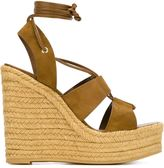 Saint Laurent platform wedge sandals