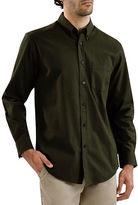 Haggar Long Sleeve Flannel Solid Shirt