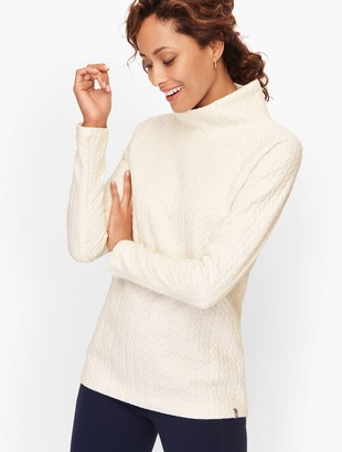 Talbots Quilted Shimmer Pullover
