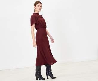 Oasis Pintuck Midi Dress