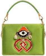 DSQUARED2 Swarovski & Eye Charm Satin Shoulder Bag