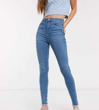 New Look Tall lift & shape skinny jean in mid blue