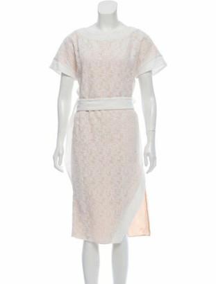 Prabal Gurung Silk-Lined Midi Dress w/ Tags tan