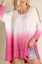 Umgee USA Pink Dyed Tunic Top