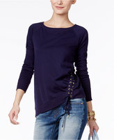 MICHAEL Michael Kors Side-Tie Lace-Up Top