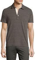 Billy Reid Pensacola Striped Polo Shirt, Gray