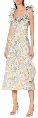 Zimmermann Super Eight Frilled linen midi dress