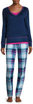 Flirtitude Fleece Pant Pajama Set-Juniors