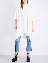 Maison Margiela Asymmetric cotton-jersey dress