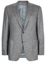 Canali Basketweave Cashmere-silk Jacket