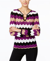 INC International Concepts Petite Zizag Sweater, Only at Macy's