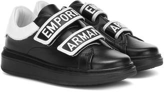 Emporio Armani Kids Leather sneakers