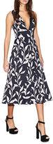Cynthia Rowley Leaf-Print Midi Dress