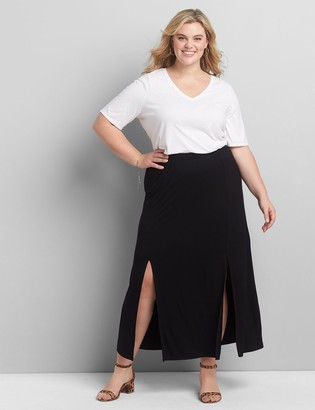 Lane Bryant Double-Slit Maxi Skirt