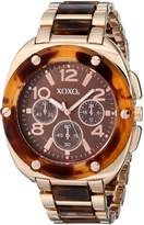 XOXO Women's XO5645 Rose Gold Tortoise Bracelet Analog Watch