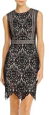 Aidan Mattox Scalloped Lace Sheath Dress - 100% Exclusive