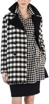 Akris Double-Breasted Check Wool Coat