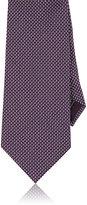 Brioni Men's Dot Jacquard Silk Necktie-PURPLE