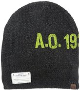 Sperry Men's Slouchy Beanie STS Logo Patch and Screenprint