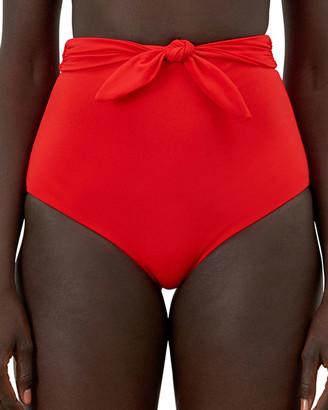 Mara Hoffman Jay High-Waist Tie-Front Bikini Bottoms